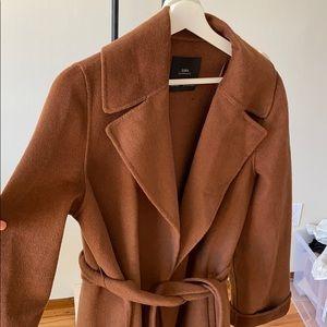 Zara toffee brown coat